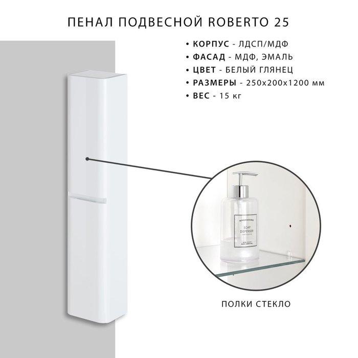 Пенал подвесной Roberto 25 белого цвета