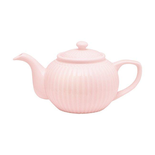 Чайник Alice pale pink из фарфора
