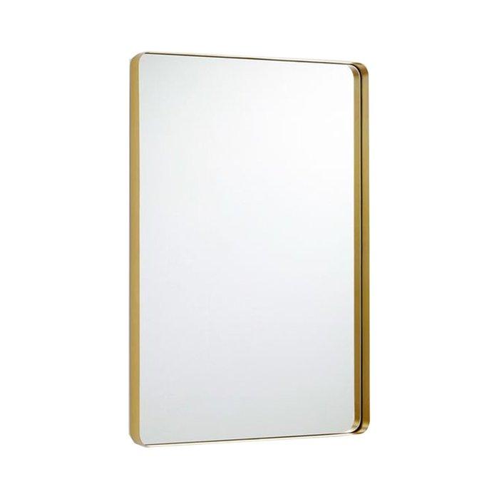 Прямоугольное зеркало в латунной раме 80х60