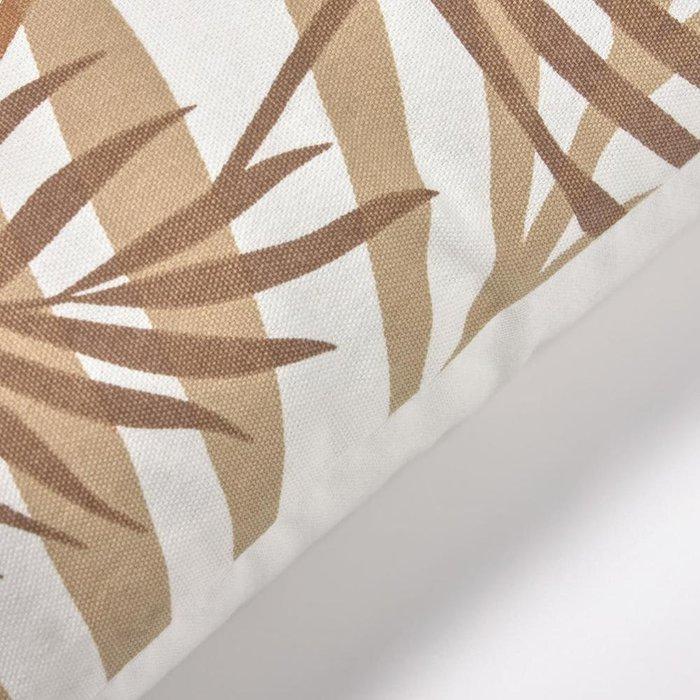 Чехол для подушки Amorela из хлопка с зелеными листьями 30x50