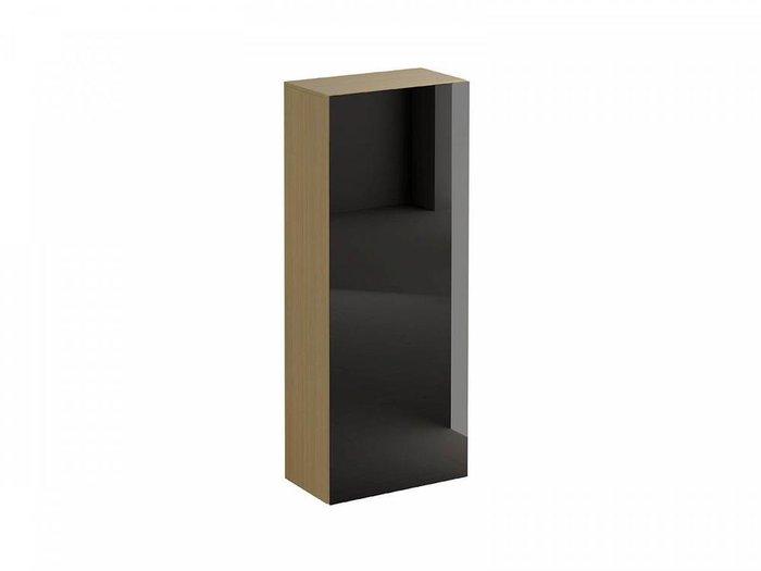 Шкаф для одежды Gusto со стеклом на фасаде черного цвета