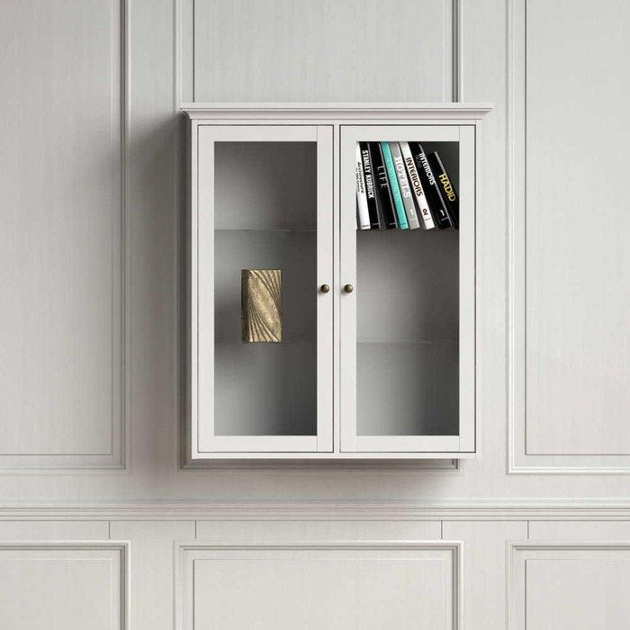 Шкаф-витрина Paris белого цвета