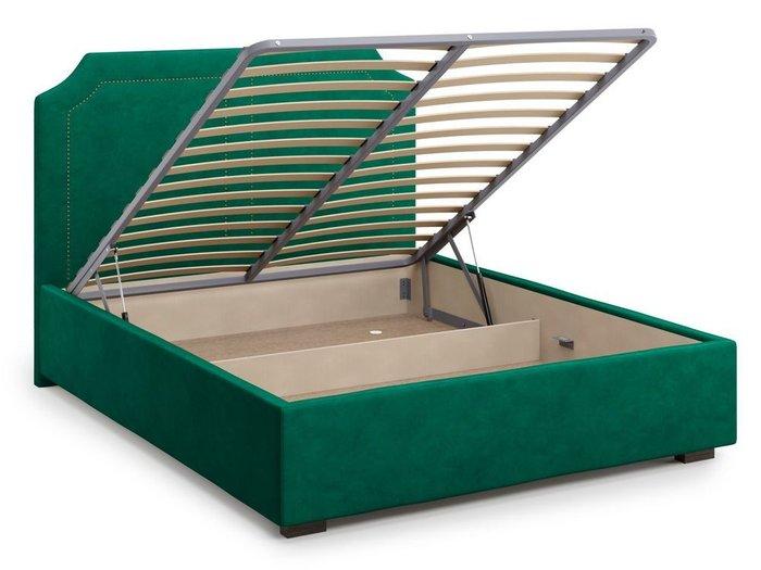 Кровать с подъемным механизмом Lago 180х200 зеленого цвета