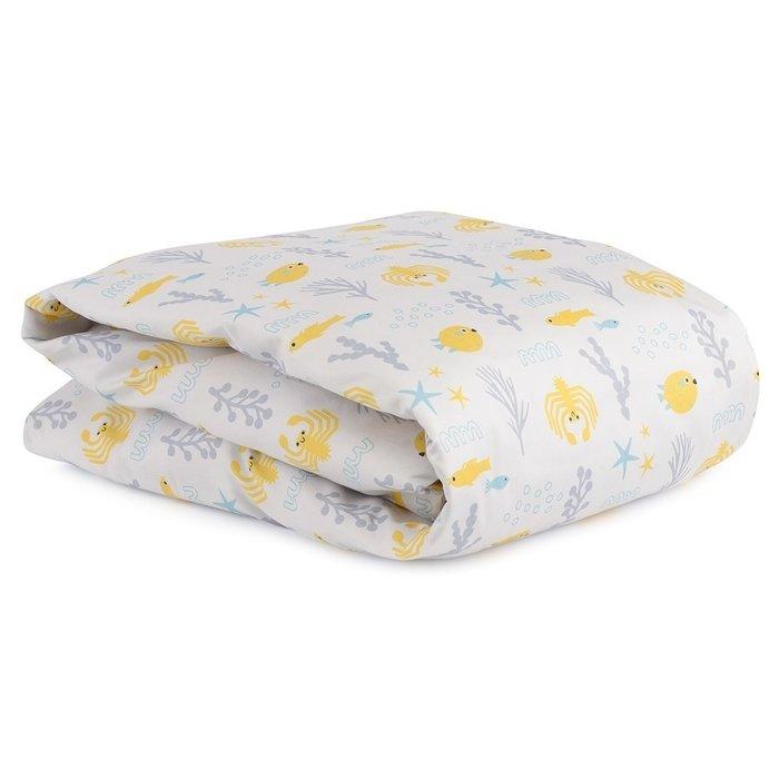 Комплект постельного белья с принтом oceania world из сатина 100х120