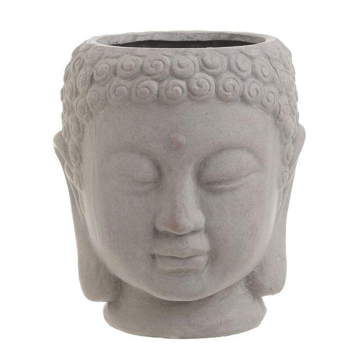 Декор настольный-кашпо Buddha серого цвета