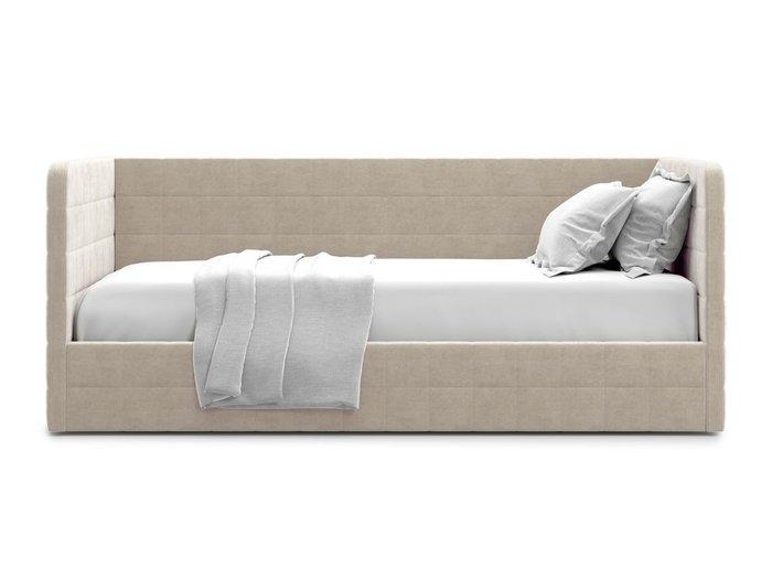 Кровать с подъемным механизмом Brenta 90х200 бежевого цвета