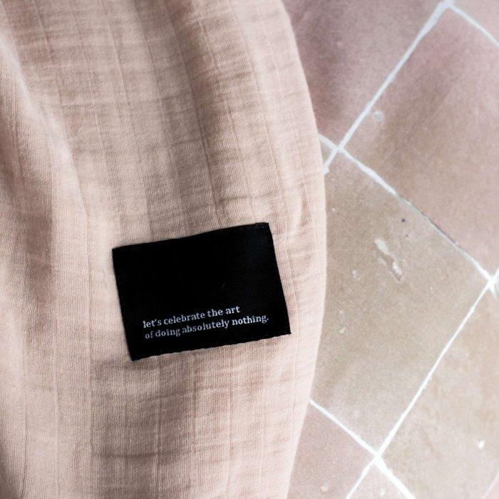 Комплект постельного белья Плитка кремово-розового цвета 150x200