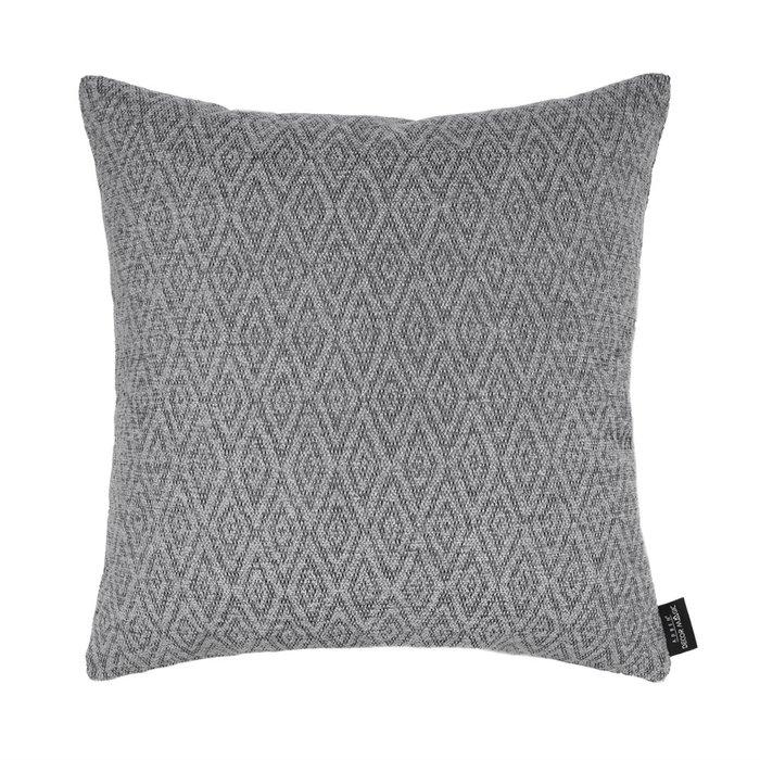 Декоративная подушка Zoom rhombus grey серого цвета