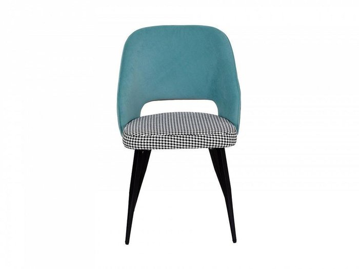 Кресло Buro со спинкой голубого цвета