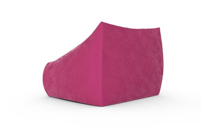 Кресло с подлокотниками Angle Velur розового цвета