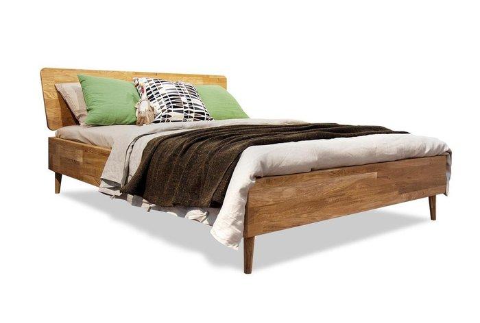 Кровать Ирвинг 160x200 светло-коричневого цвета