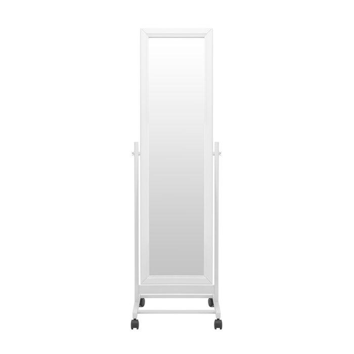 Зеркало напольное Мэмфис белого цвета