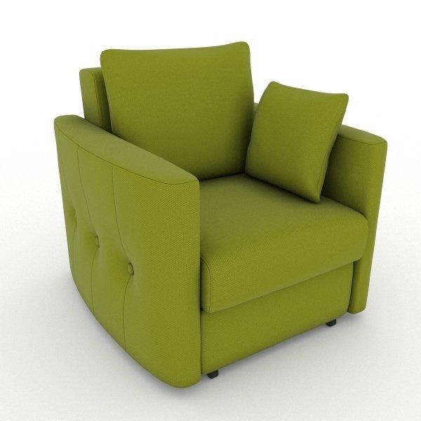 Кресло-кровать Luna зеленого цвета