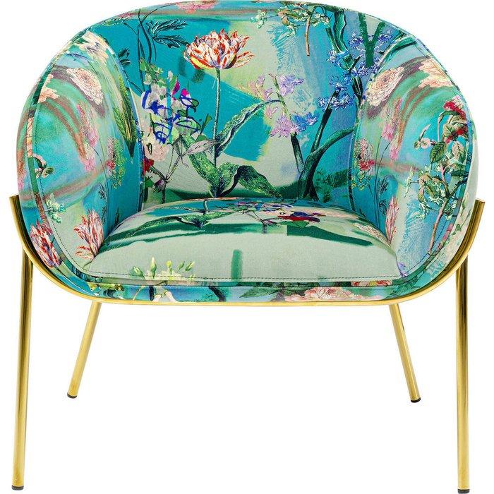 Кресло Asian Garden с растительным принтом