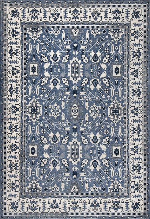 Ковер Line Paradise синего цвета 135х200