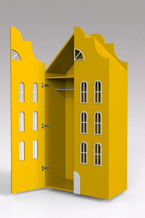 Двойной шкаф-домик Стокгольм Maxi желтого цвета