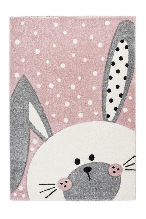 Детский ковер Amigo Rabbit Pink розового цвета 80х150