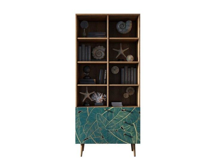 Книжный шкаф Berber бежево-зеленого цвета