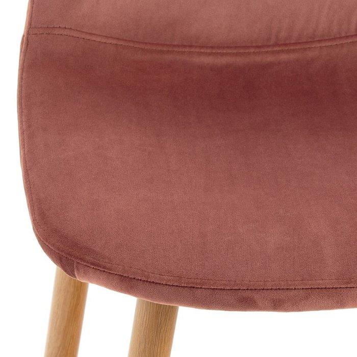 Комплект из двух полубарных стульев Iena розового цвета