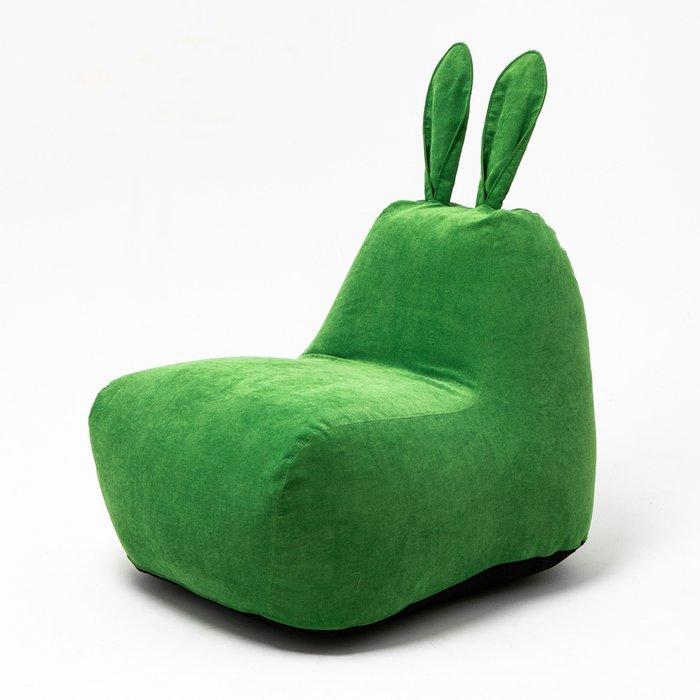 Пуф заяц Small в зеленом велюре