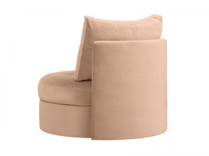 Кресло Wing Round коричневого цвета