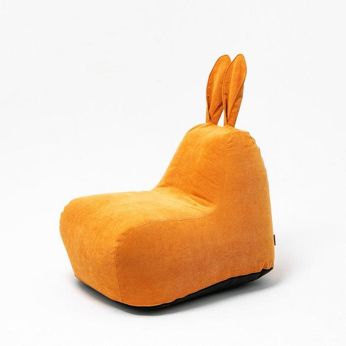 Пуф заяц Small в оранжевом велюре
