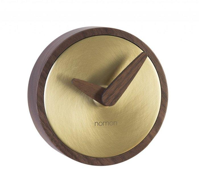 Часы настенные Atomo коричнево-золотого цвета