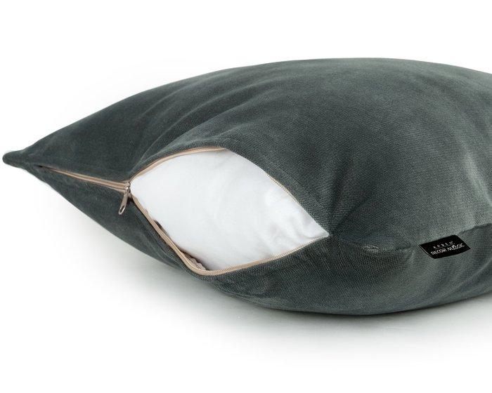 Декоративная подушка Lecco Mint цвета темный ментол