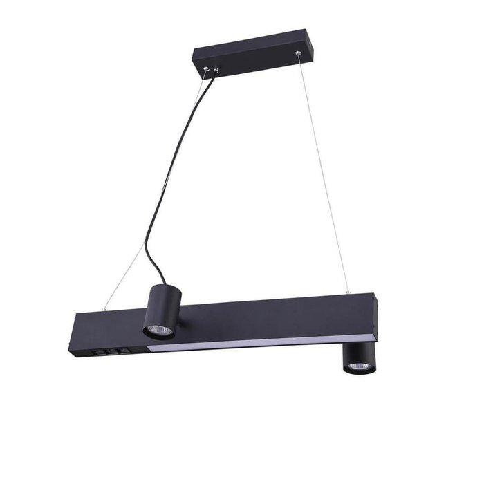 Подвесной светильник Chela из металла черного цвета