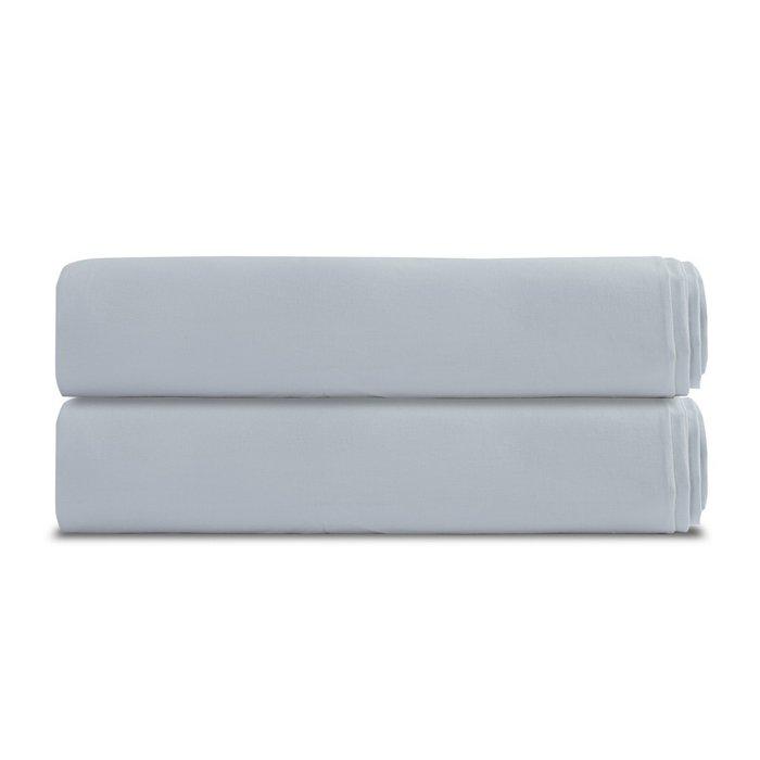 Простыня на резинке из перкаля светло-серого цвета 160х200