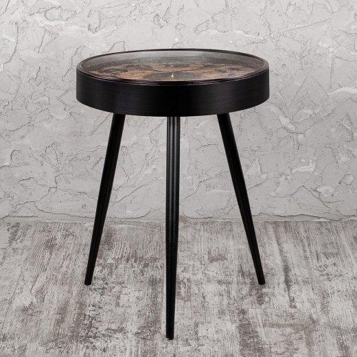 Кофейный столик с металлическим подстольем