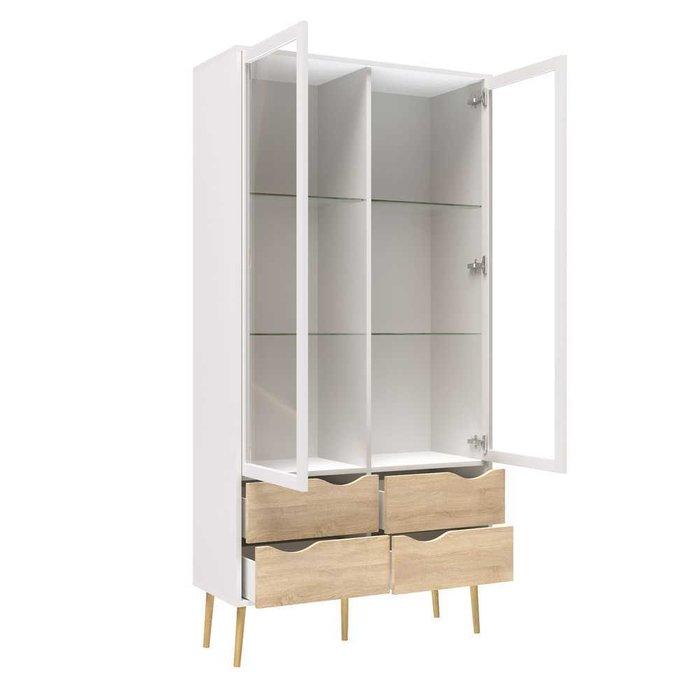 Шкаф-витрина Oslo с ящиками