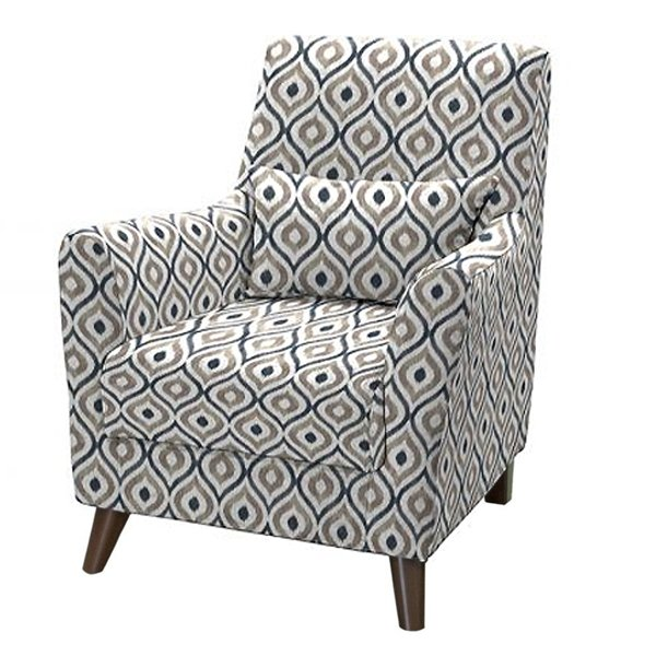 Кресло Либерти черно-белого цвета