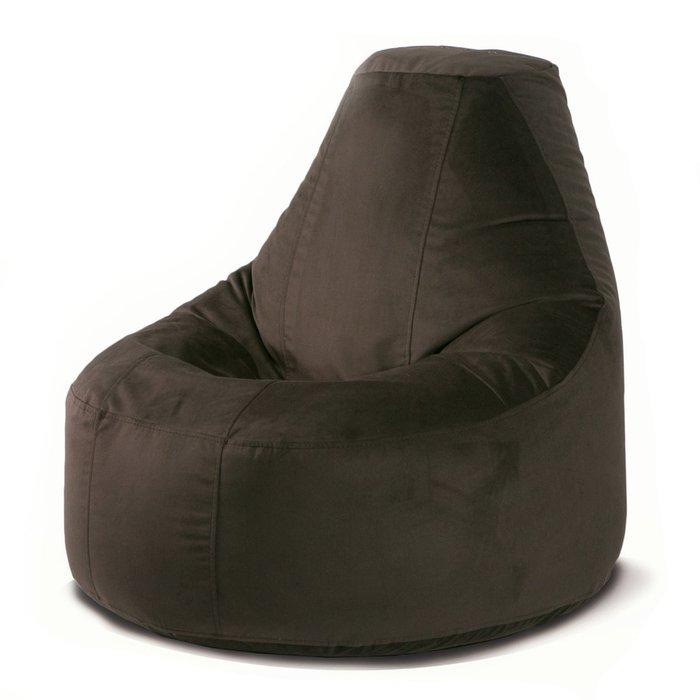 Кресло-мешок Люкс Шоколадная фабрика тёмно-шоколадного цвета