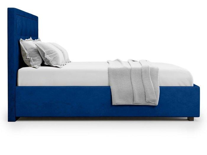 Кровать Komo 140х200 синего цвета с подъемным механизмом