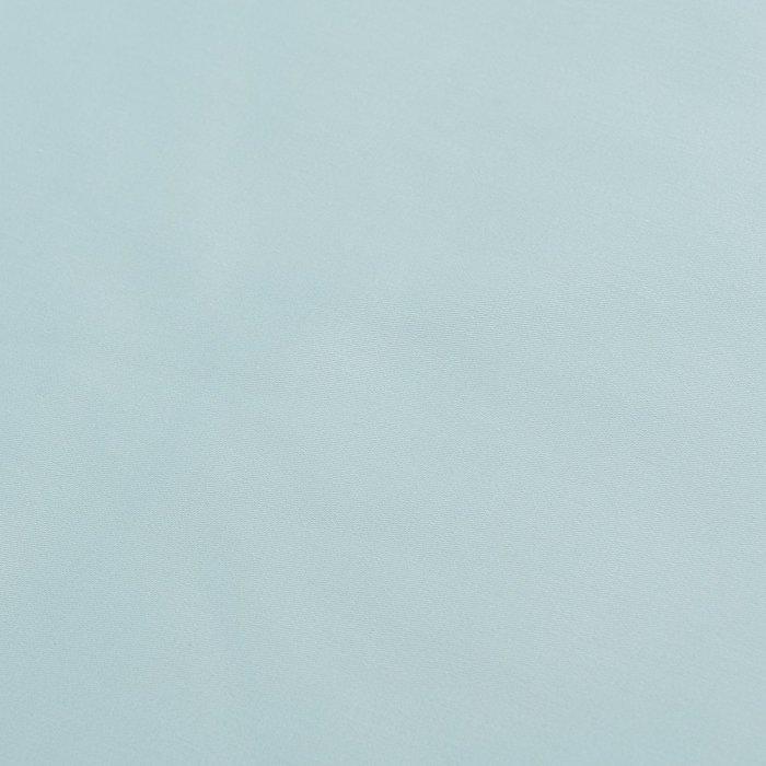 Простыня на резинке из сатина голубого цвета 60х120х20