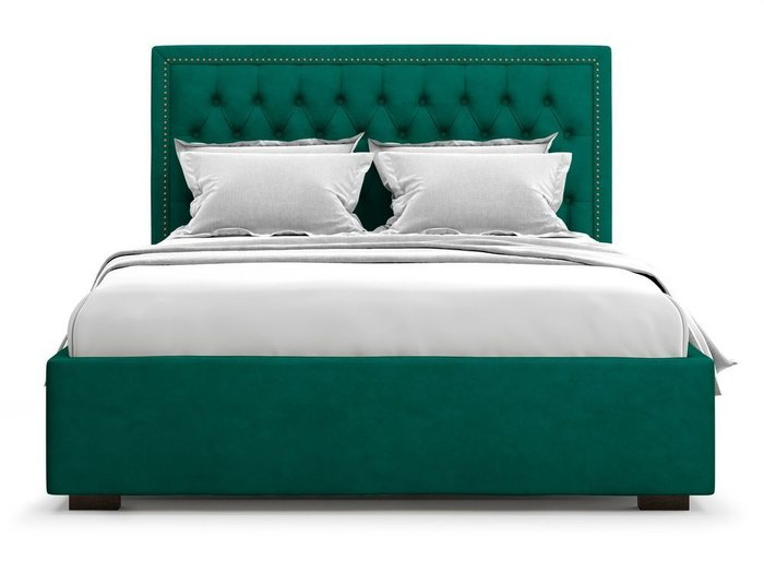 Кровать с подъемным механизмом Orto 140х200 зеленого цвета