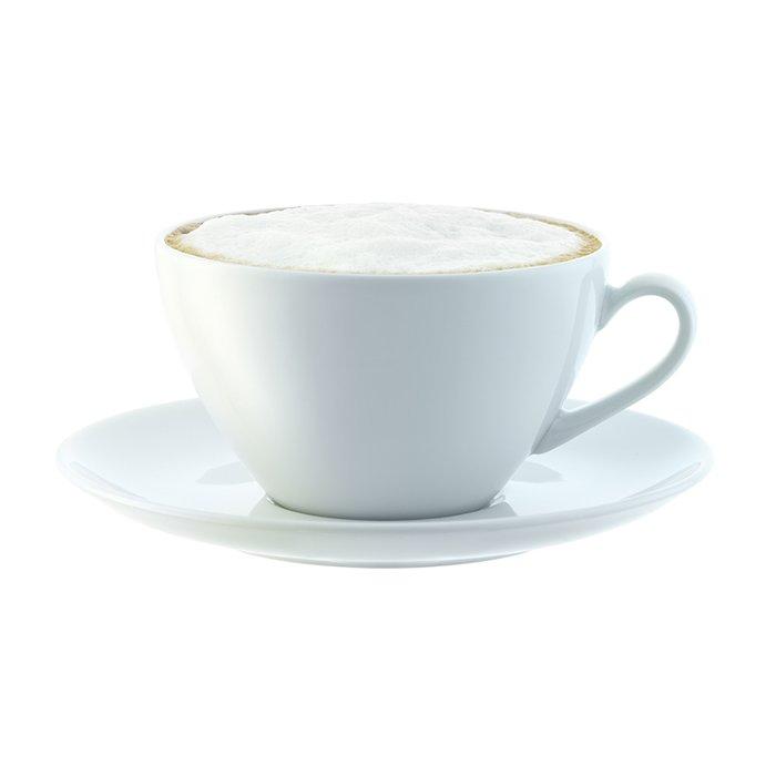 Набор из четырех округлых чашек с блюдцем LSA dine 350 мл