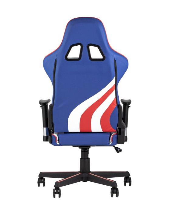 Кресло игровое синего цвета