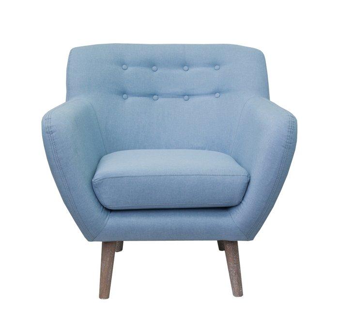 Низкое кресло FULLER BLUE голубого цвета