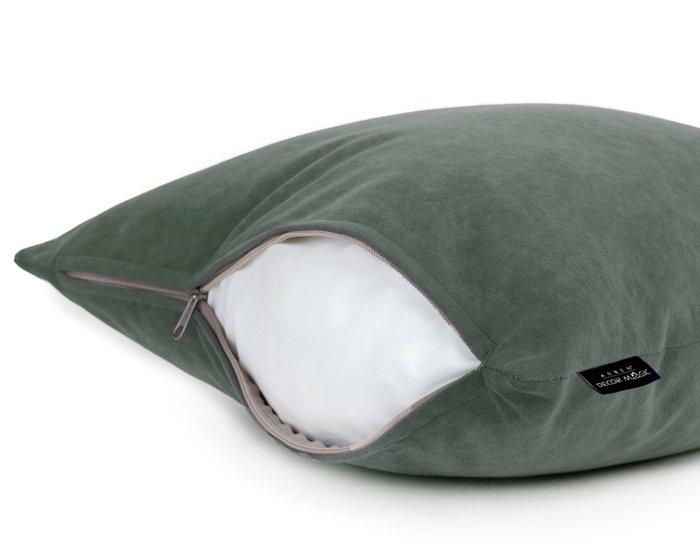 Декоративная подушка Ultra Olive 45х45 оливкового цвета