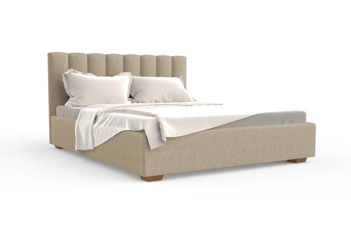 Кровать Клэр 180х200 бежевого цвета с подъемным механизмом