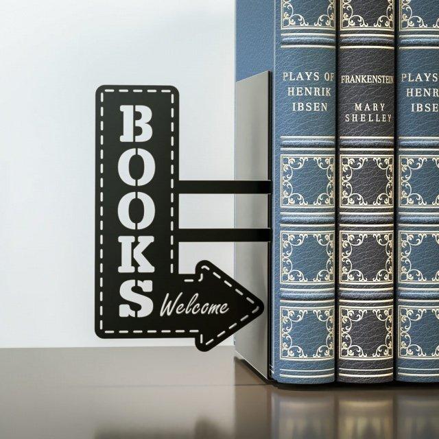 Держатель для книг BookShop черного цвета