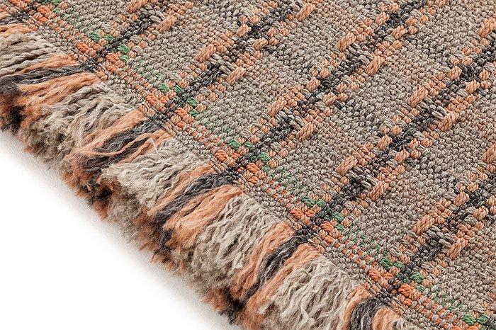 Подушка Tartan terracotta терракотового цвета