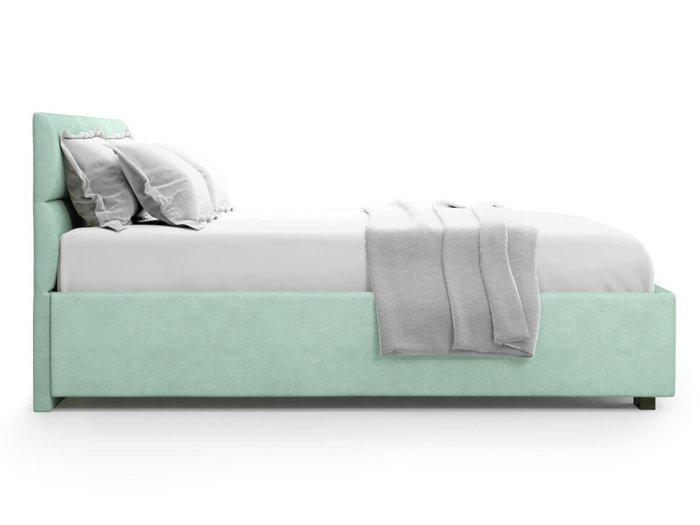 Кровать Bolsena 140х200 бирюзового цвета с подъемным механизмом