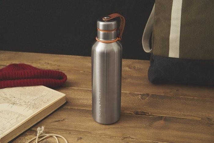 Фляга Water Bottle большая оранжевая из нержавеющей стали с пластиковой крышкой