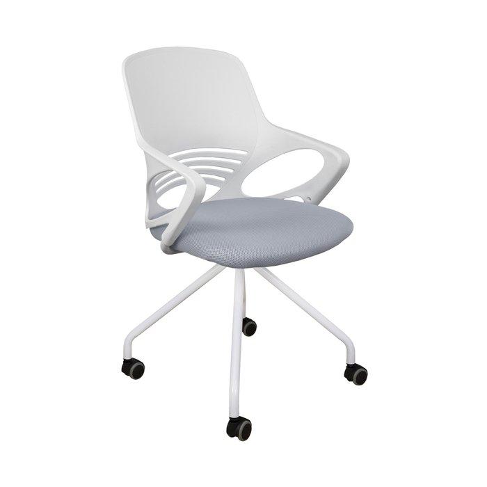 Кресло поворотное Indigo бело-серого цвета