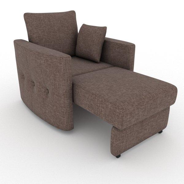 Кресло-кровать Luna коричневого цвета