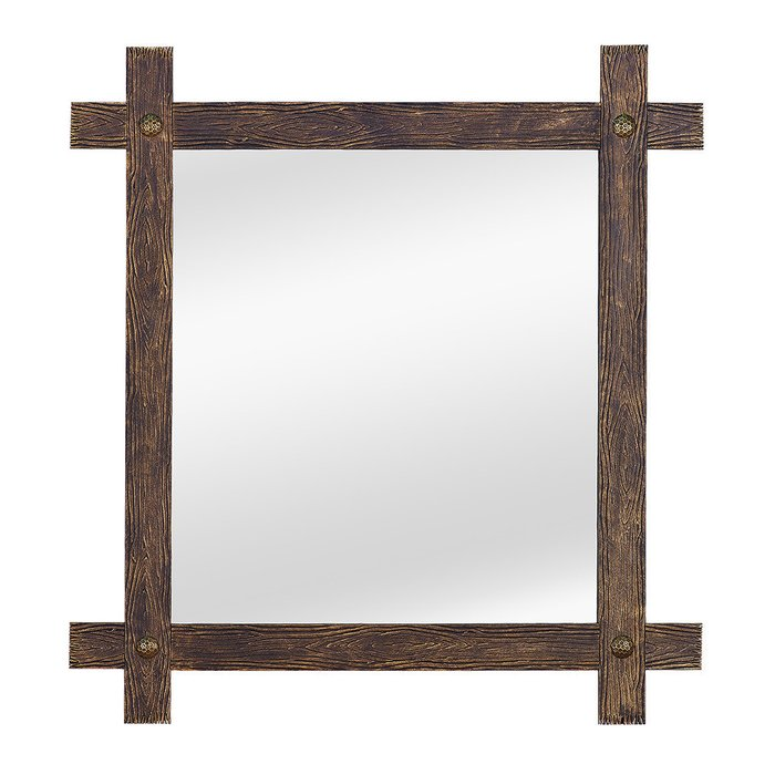 Зеркало настенное Кора II черно-золотого цвета