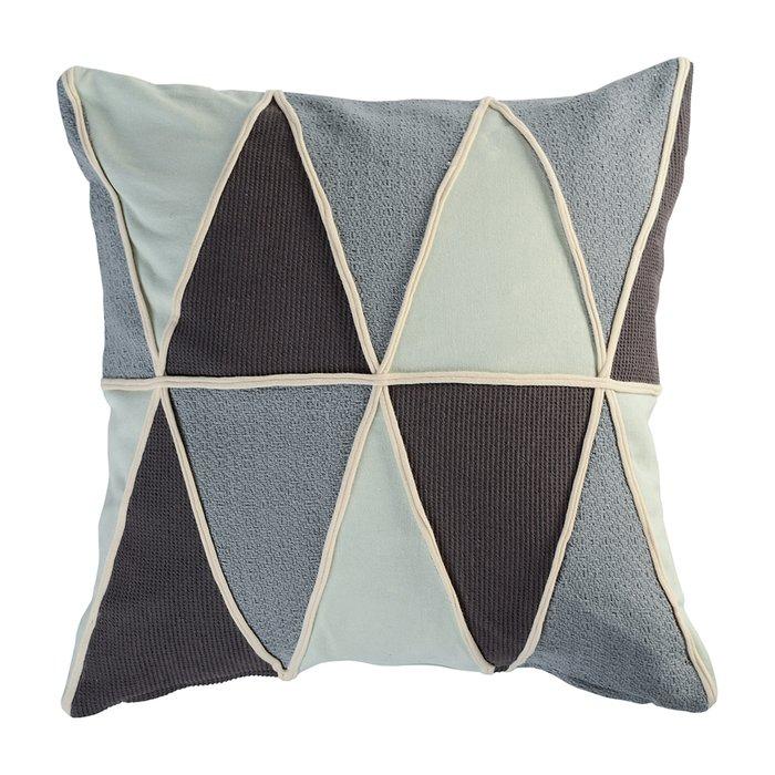 Подушка декоративная Ethnic Triangles play из прочного плотного хлопка